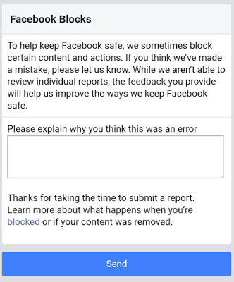 Request Review for Unblocking Your Website On Fb