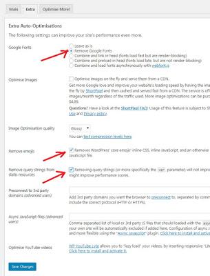 Autoptimize Plugin Extra Auto Optimisations