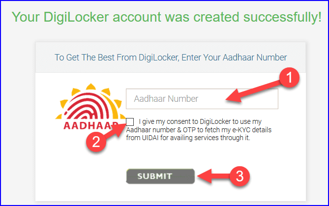 Digilocker se Adhar Card link kare