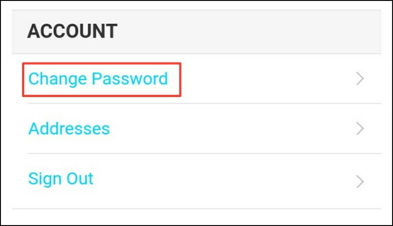 Click change password
