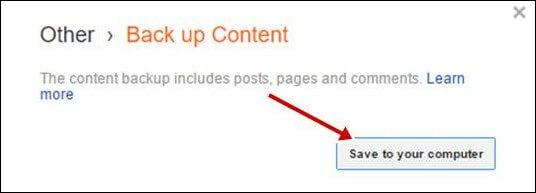 Download Blogger Backup