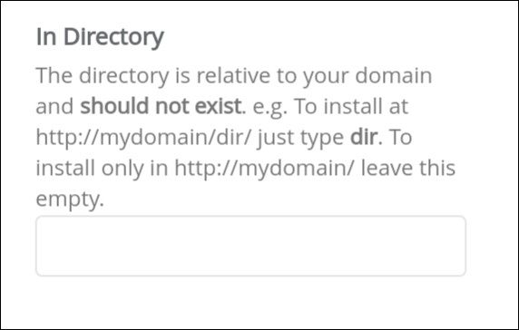 In Directory Option