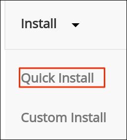 Select Install Method