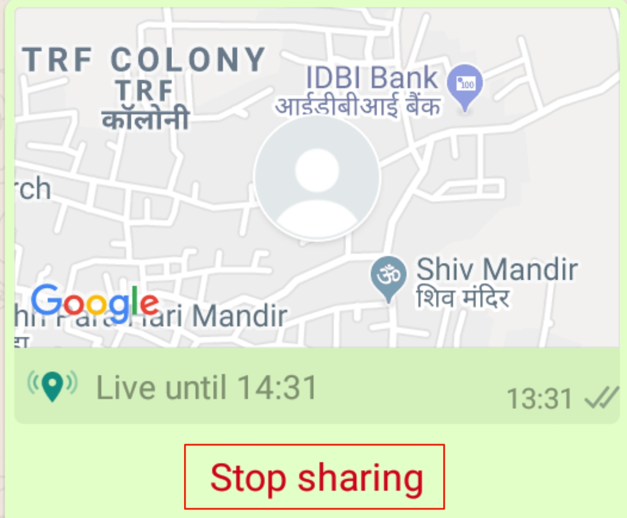 Whatsapp Live Location Sharing Stop